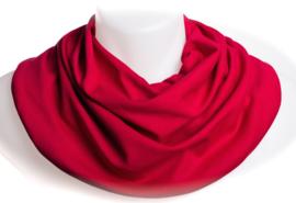 Dieprode sjaal voor overmatig speekselverlies