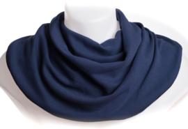 Marineblauw sjaal voor speekselverlies