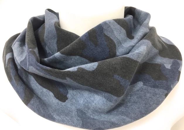 Blauw camouflage sjaal