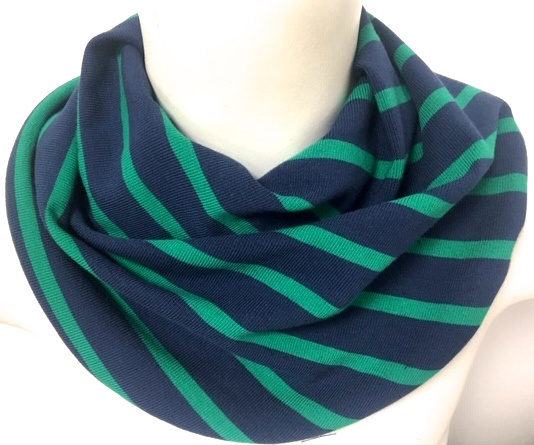 Marineblauw met groen streep