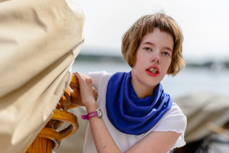 Koraalblauw sjaal