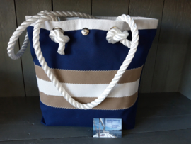 BeachBag Tommy Look Blauw/beige