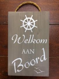 Tekstbord 'Welkom aan Boord'