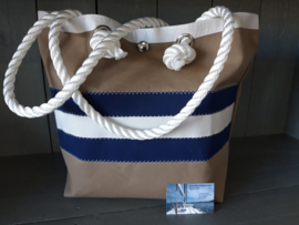 BeachBag Tommy Look Beige