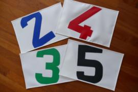 Placemats met cijfer