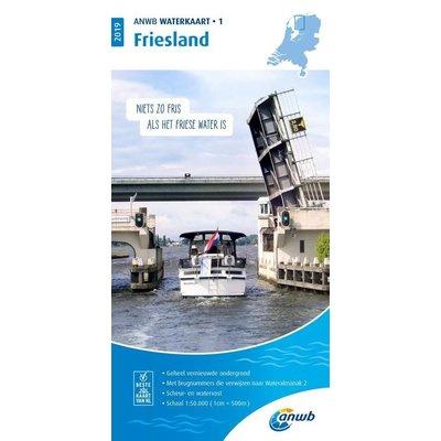 ANWB Waterkaart Friesland 1 (2020)