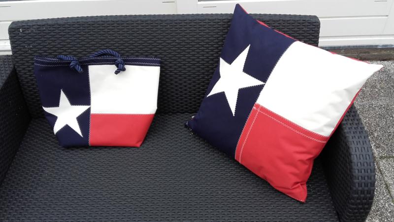 Tas en kussen met Texaanse Vlag