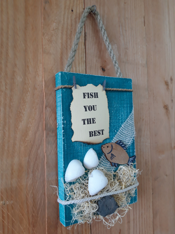 Fotobord 'Fish you the best'
