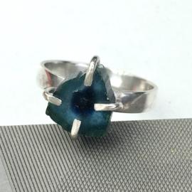 Zilveren ring dames, Zilveren ring, Handgemaakte ring edelsteen