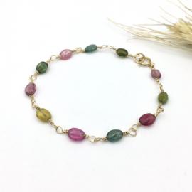 Armband met toermalijn edelstenen - Rainbow bracelet