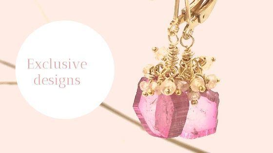 Toermalijn sieraden tourmaline jewelry tourmaline slices watermelon tourmaline oorbellen toermalijn