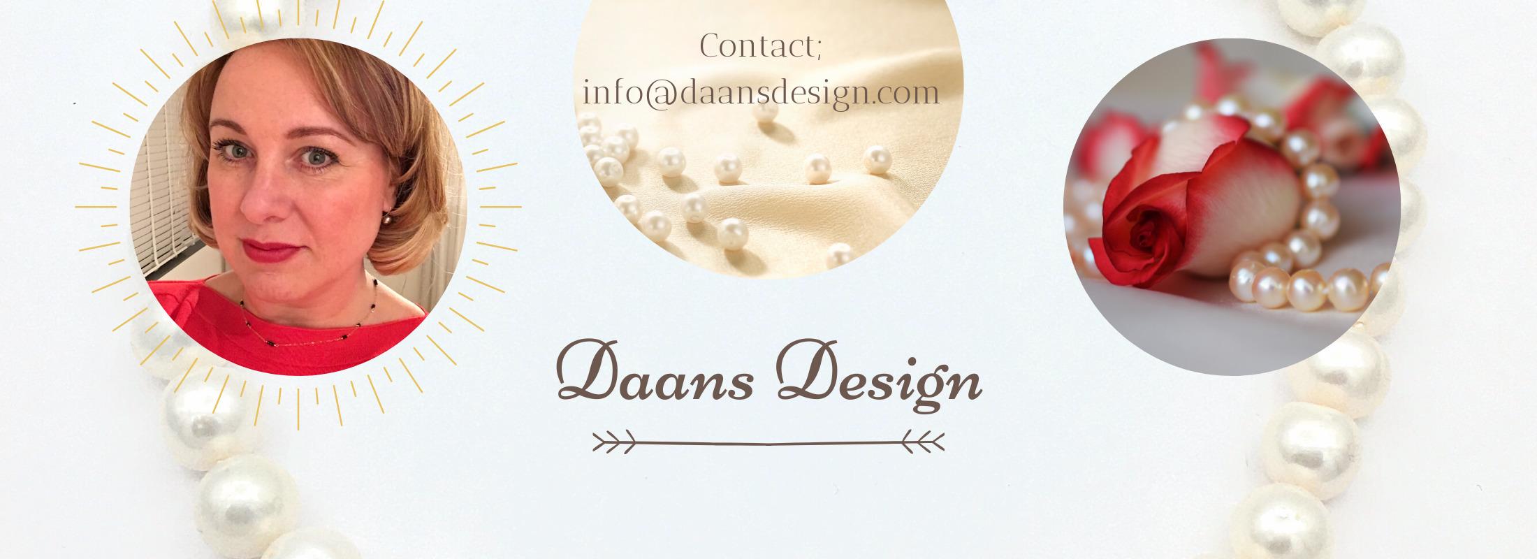 Daans Design, Parel kettingen, gouden oorbellen, zilveren oorbellen, Handgemaakte sieraden, Lange ke