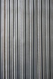 Lesli stripgordijn grijs 90x220cm