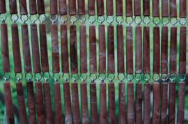 CAMPOS 4 90x210cm bruin ''gevlamde''
