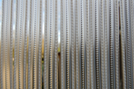 Lesli stripgordijn wit 90x220cm