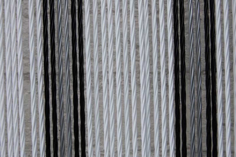 OSTUNI 1 100x230cm wit-zwart-zilver
