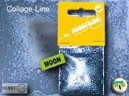 Encaustic Collage-Line Effectglitters kleur Moon (Zilver) per 5 stuks