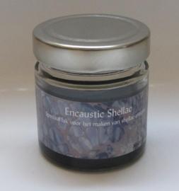 Encaustic Shellac Zwart 100 gr.