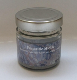 Encaustic Shellac Zilver 100 gr.