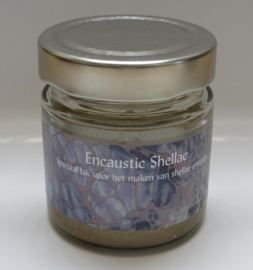Encaustic Shellac Goud 100 gr.