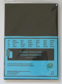 Encaustic gekleurd papier Zwart A4 24stuks