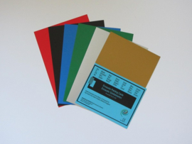 Encaustic gekleurd papier A6  Assorti