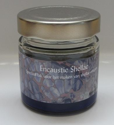 Encaustic Shellac Blauw 100 gr.
