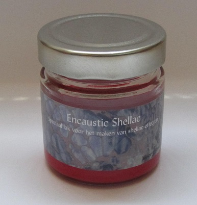 Encaustic Shellac Rood 100 gr.