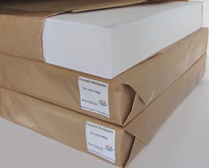 Encaustic Werkpapier/Knoeipapier Wit