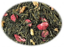 Groene thee Sencha Aardbei Lychee