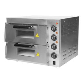 Pizzaoven 220 volt 3000 watt 2 etages - 40 x 40 cm