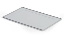 Deksel voor krat grijs 600 x 400 x 27 cm