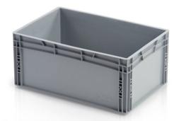Euronormkrat grijs 600 x 400 x 27 cm