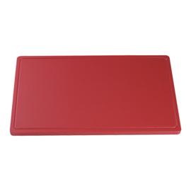 Snijplank rood (vlees) 2 x 40 x 25