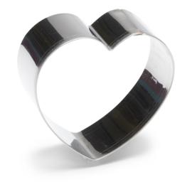 Hart uitsteekvorm RVS 10 cm