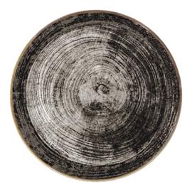 Pannenkoekenbord / Pizzabord porselein Black Wood
