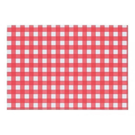 Placemat rode ruit 250 st