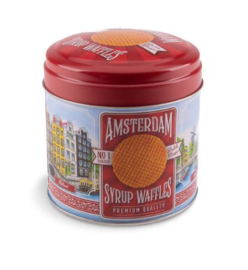Stroopwafel can Amsterdam colour