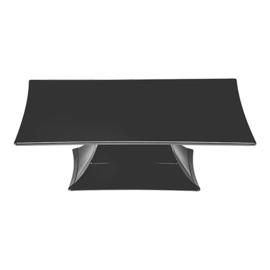 Taartstandaard polycarbonaat vierkant 35 x 35 cm
