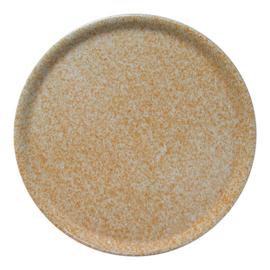 Pannenkoekenbord / Pizzabord porselein Sand stone
