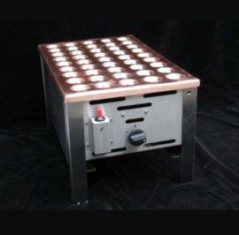 Poffertjesplaat 45 dops op gas