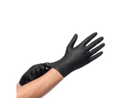 Handschoen zwart poedervrij maat M 100 stuks