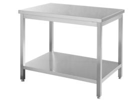 RVS werktafel met onderblad - 180 x 70 x 85 cm