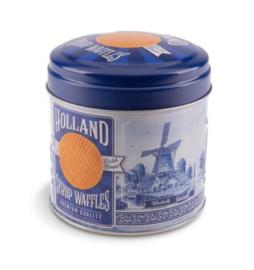 Stroopwafel can Delft Blue
