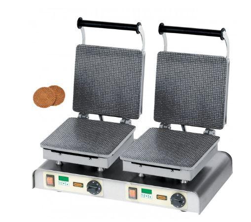 Stroopwafelmachine dubbel met timer