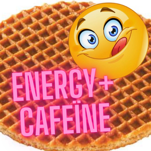 Energy Stroopwafel 11 cm Box of 21 pcs - With cafeine.