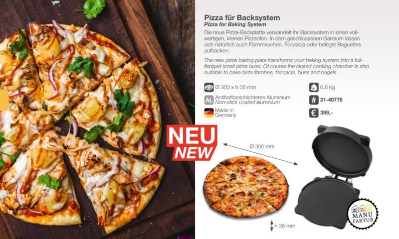 Pizza bakplaat voor Baking system
