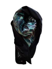 Shawl Velvet Black