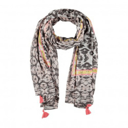 About Accessoires Shawl Luipaard Grijs