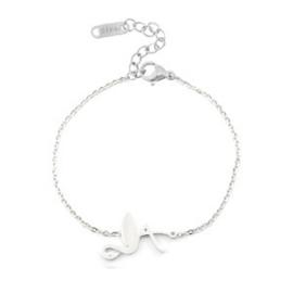 Armbandje Flamingo Silver